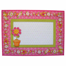Pack of 5 Hand Crafted Pink Daisy Design Envelopes 5 x 7 inches Floral Border