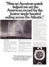 "1971 Accutron Deep Sea 'A' Watch photo ""Sailing Across the Atlantic"" print ad"