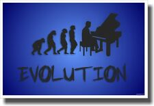 Piano Evolution - Blue - NEW Music POSTER