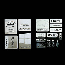 Haswell Intel Core i7 Logo Metal Decal Sticker Energy star Windows8 (combo D)