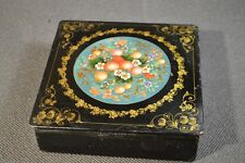 VINTAGE RUSSIAN PALEKH LACQUER BOX TRADITIONAL HAND-PAINTED SIGNED