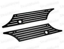 Black Edge Cut CNC Billet Hard Saddlebag Latch Cover 4 Harley 1993-2013 Touring