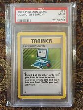 Pokemon Base UK 1999-2000 Computer Search #71/102 PSA 9 MINT