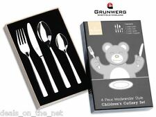 Westministe 4 Piece Child Cutlery Gift Box Set Stainless Steel Grunwerg Children