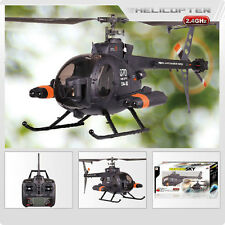 FX070C 2.4G 4CH 6-Axis Gyro Flybarless MD500 Scale RC Helicopter  FREE SHIPPING