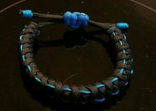 Paracord adjustable Thin Blue Line bracelet
