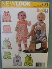 New Look  #0184 New Uncut Size A (NB - LG) Childrens Top Shorts Romper