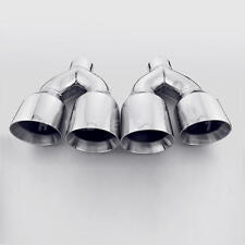 "QUAD 4"" Out Stainless Steel Exhaust Tips 2.5"" Inlet Dual Wall for ACURA TL TLS"