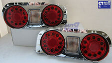 Clear Red LED Tail Lights Nissan Skyline R32 GTS-T GT-R GT-T RB25DET RB26DETT