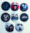 8 piece lot of The Mighty Boosh pins buttons badges