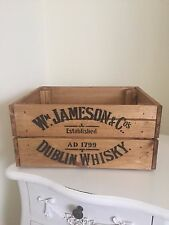 WOODEN W Jameson & Co Dublin WHISKY VINO CRATE BOX STORAGE Shabby Chic Retrò