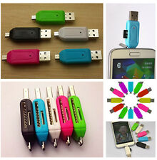 2016 Portable 2-in-1 OTG USB 2.0 Micro SD TF T-Flash Memory Card Reader Adapter