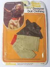 "Vintage 1983 Mini-Mod Dolls Clothes Divided Skirt Set for 11.5 "" Doll Barbie etc"