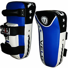 VELO Curved Arm Pad Kick Boxing Strike MMA Focus Muay Thai Punch Mitt Blue W