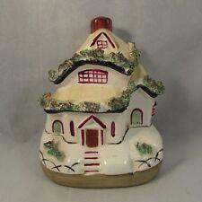 Antique English Staffordshire pastille burner cottage 1860