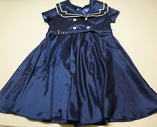 Chic Star Collaborative Collections Womens  22  Belted Blue Satiny Sailor Dress