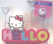 "Hello Kitty Photo Holder Picture/Memo/Note Holder - Rainbow Colors ""HELLO"" - NEW"