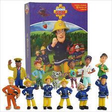 FIREMAN SAM BUSY BOOK - 12 FIGURES AND A PLAYMAT - CAKE TOPPERS BN FREE P+P