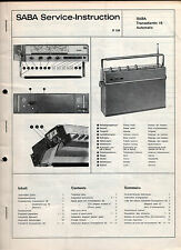 Kofferradio  Saba  Transatlantic 18 Automatic   Service Manual  1967