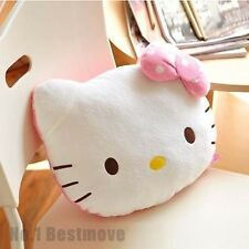 New Hello Kitty Plush Throw Pillow Backrest Car Office Home Seat Lumbar Support