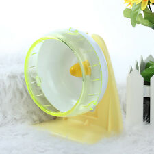 Plastic Mute Exercise Wheel with Bracket Toy for Small Animal Hamster Guinea Pig