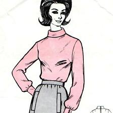 """RARE Vintage 60s BLOUSE & SKIRT Sewing Pattern Bust 32"""" Size 8 RETRO Top"""