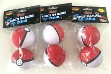 6x Hand Stress Relief Squeeze Foam Ball Balls Pokeman Ball Toys