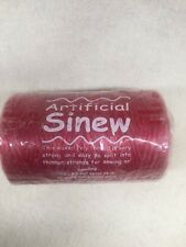 ARTIFICIAL SINEW #70 8 oz spool RED