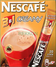 Nescafe Nestle Creamy 3 in 1 Instant Coffee Mix Box of 20 Sticks x 17.2g Super