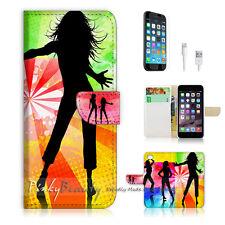 "iPhone 6 Plus (5.5"") Print Flip Wallet Case Cover! Fancy Dance Girl P0129"