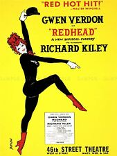 ADVERTISING THEATRE STAGE MUSICAL REDHEAD VERDON KILEY ART POSTER PRINT LV1173