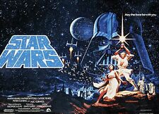 Vintage Star Wars Movie Poster Fabric Block - BUY 2 FABRIC LISINGS, GET 1 FREE