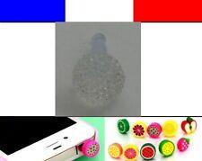 Cache anti-poussière jack universel iphone capuchon bouchon Boule strass 1