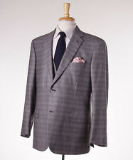 NWT $7200 BRIONI 'Colosseo' 3-Piece Gray Check Wool-Silk-Cashmere Suit 44 R