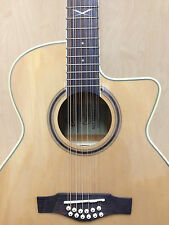 EKO NXT 018 CW XII EQ NATURAL 12-String Electro-Acoustic Guitar + Free Gig Bag