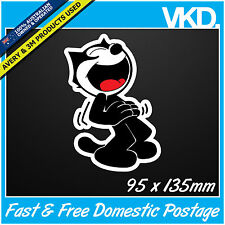 Felix The Cat Sticker/Decal - Retro Laptop Cartoon Vinyl Car 4x4 Old Vintage Ute