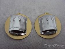 NEW Pair British Military Drummers Bandsmen Musician Chrome Sleeve / Arm Badges