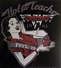 "VAN HALEN AUFKLEBER / STICKER # 2 ""HOT FOR TEACHER"" - PVC - WETTERFEST - 11x10cm"