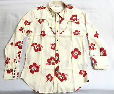 Authentic Saint Laurent Hibiscus Gold trim Luxury Viscose Shirt - M thom browne