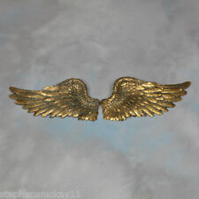 Pair of Decorative Antique Gold Angel Wings Wall Hangings - 40 cm Wide Each