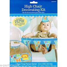 1st BIRTHDAY One Wild Boy HIGH CHAIR DECORATING KIT ~ First Party Supplies Blue