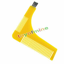 Beard Styling and Shaping Template Comb Tool Moustache Face Neck Beard shaper