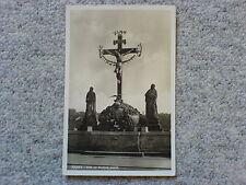 1 alte AK Prag Das Kreuz auf der Karlsbrücke ungelaufen um 1930