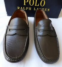 Polo Ralph Lauren Driving Moccasins 8.5 OLIVE Loafers Drivers Shoes Slip On NIB
