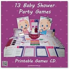 Baby Shower Party Games CD  -  SAVE £'s BY PRINTING YOURSELF  -  13 games