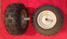 Set Of 2, Carlisle Sno Hog Tires With Rims 16x6.50-8NHS