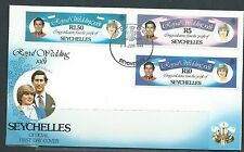 SEYCHELLES Diane and Charles Royal Wedding First Day Cover 1 MNH