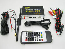 Top Vehicle Car Digital TV DVB-T2 H2.64 Tuner HD BOX Receiver w Double Tuner