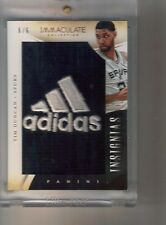 2013-14 Panini Immaculate Tim Duncan Insignias #6/6 ADIDAS Game Worn Logo Patch