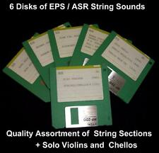 Ensoniq EPS ASR Disks  6 Strings Sound Disks With 16 Quality Instruments ! !